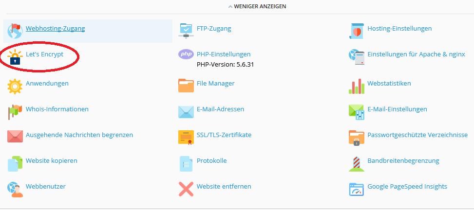 Servado - Wiki - Wordpress mit Let\'s Encrypt SSL Zertifikat.